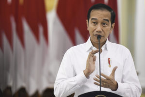 "Presiden Joko ""Jokowi"" Widodo memberikan pernyataan pers tentang COVID-19 di Istana Bogor, Jawa Barat"