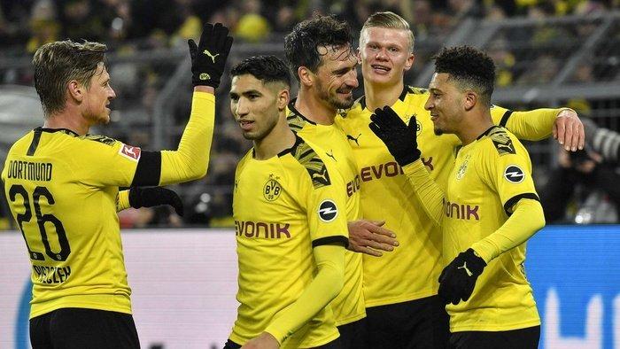 Dortmund vs Hertha Berlin, Menang Tipis 1