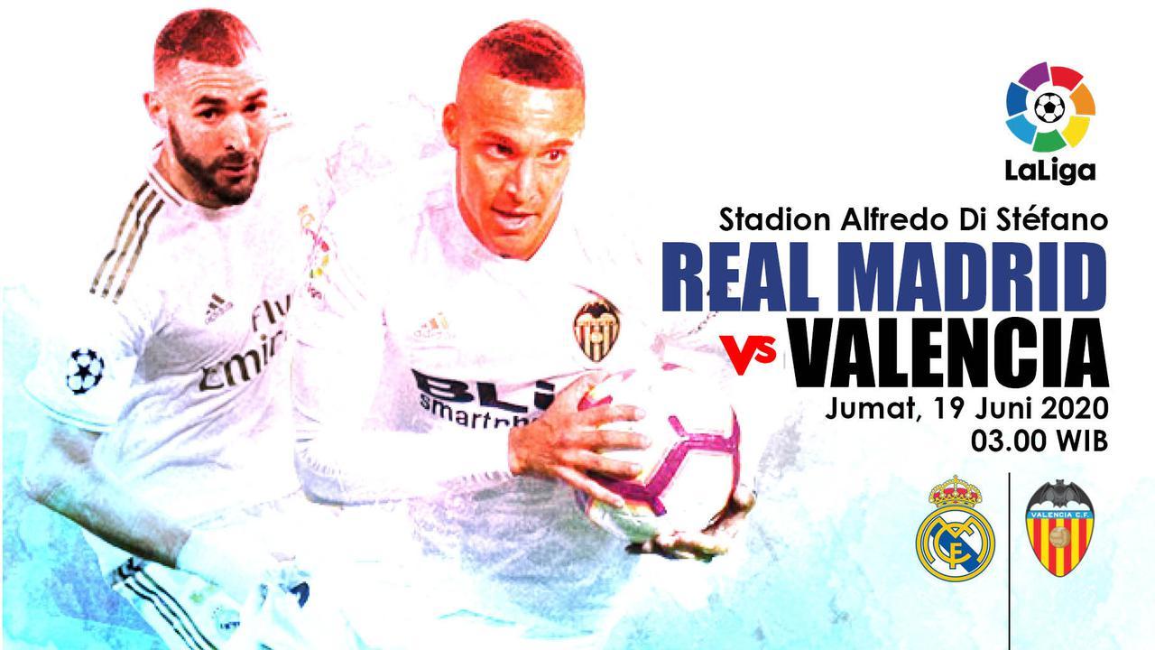 Pertandingan Real Madrid vs Valencia dini hari