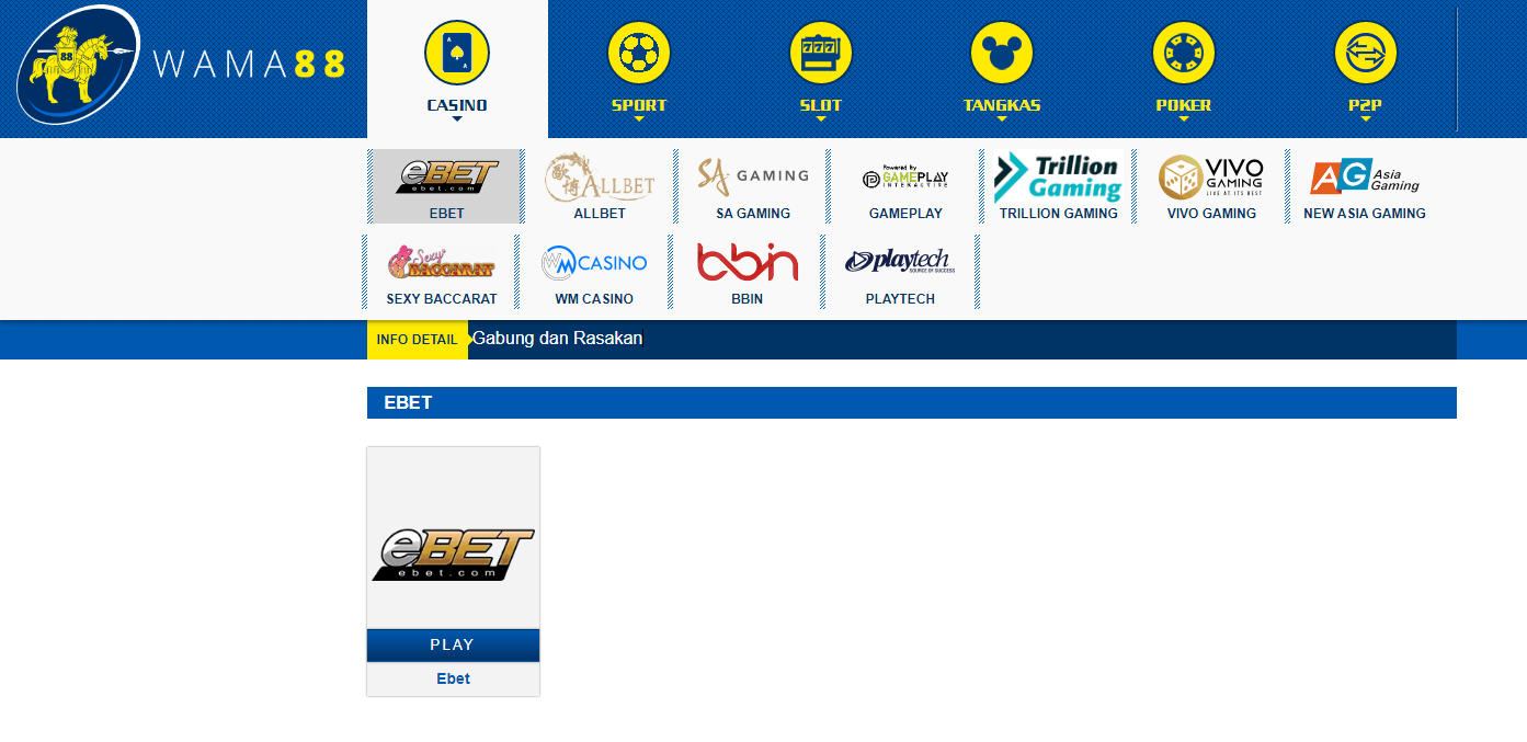 Situs permainan Online WAMA88