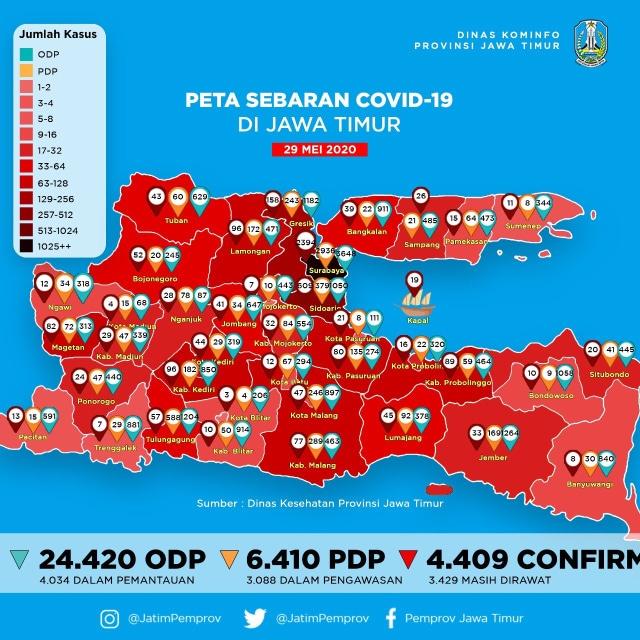 Surabaya Zona Hitam Pandemi Covid-19